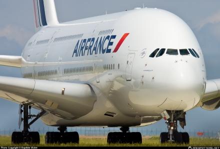 O Airbus A380 da Air France
