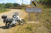Uma moto brasileira na Guiana francesa