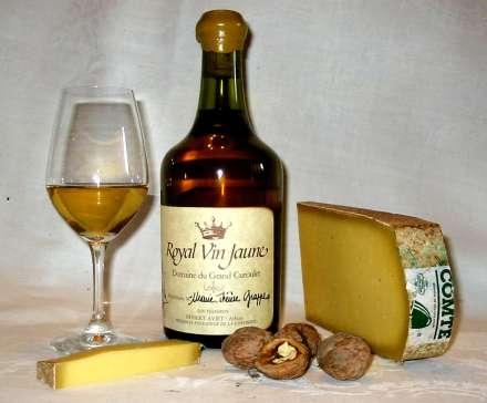 Vinho Amarelo e Queijo Comté