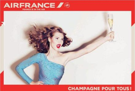 Champagne para todos. So na Air France!