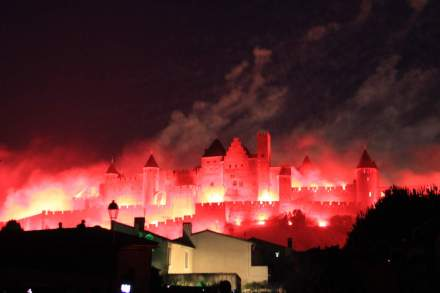 Fogos de artificios em Carcassonne