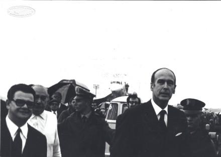 Giscard d'Estaing chegando de Concorde em Viracopos