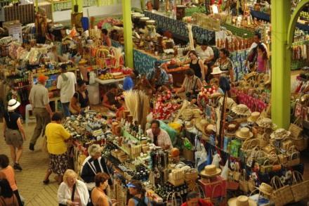 O mercado central de Papeete