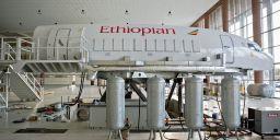 O simulador de voo da Ethipian