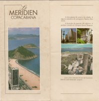 Folheto do Le Meridien Copacabana
