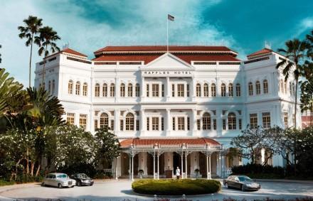 O mítico Raffles Hotel de Singapura