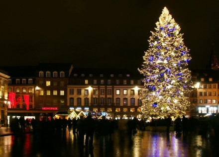 A famosa árvore de Natal de Estrasburgo