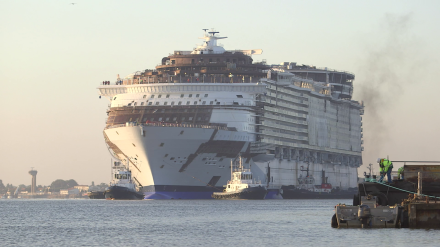 O Harmony-of-the-seas em Saint Nazaire