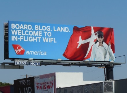 Virgin America inflight wifi billboard