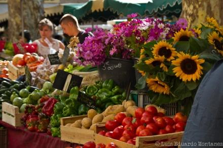 Feira livre em Aix-en-Provence