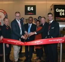 Thierry Gargar do turismo da Guadalupe na inauguracão do voo da Norwegian