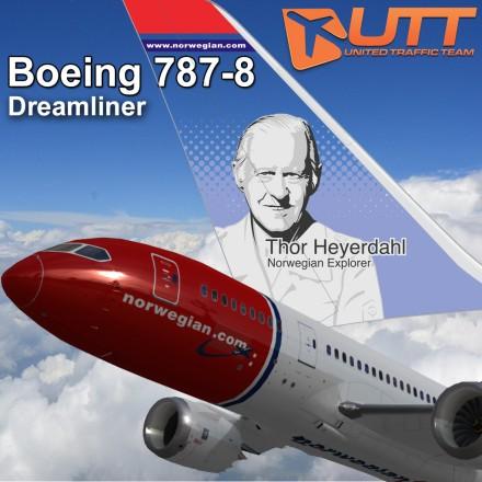 O famoso explorador Thor Heyerdahl nas asas da Norwegian