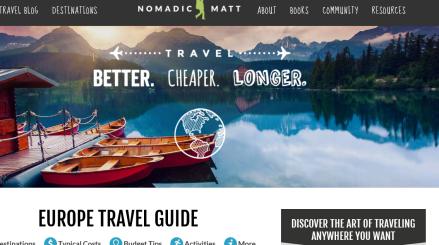 Nomadic Matt, o blog de viagem líder em visitas