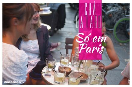 Chá da tarde assim, só em Paris