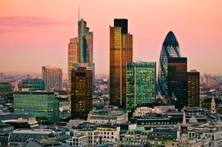 O distrito financeiro de Londres