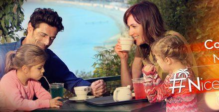 Nice mostrando os momentos para compartir em família