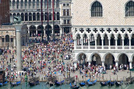 Turistas na Praça San Marco