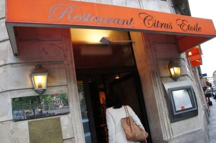O restaurante parisiense Citrus Etoile